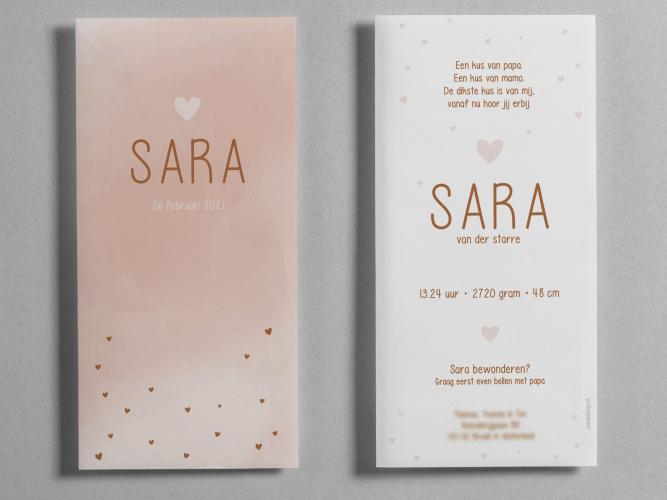 Geboortekaartje Sara